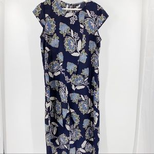 Icone floral long maxi short sleeve dress
